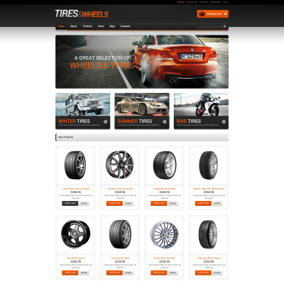Wheels & Tires Responsive Tema WooCommerce