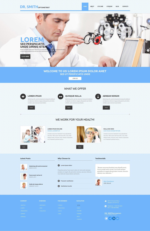 Tema WordPress Flexível para Sites de Optometrista №48838