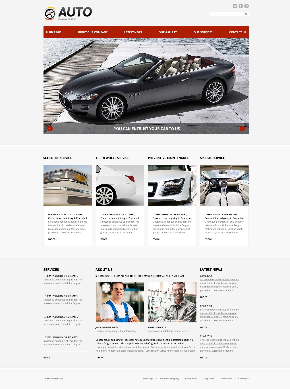 Thème Joomla adaptatif pour site de réparation de voitures #48883