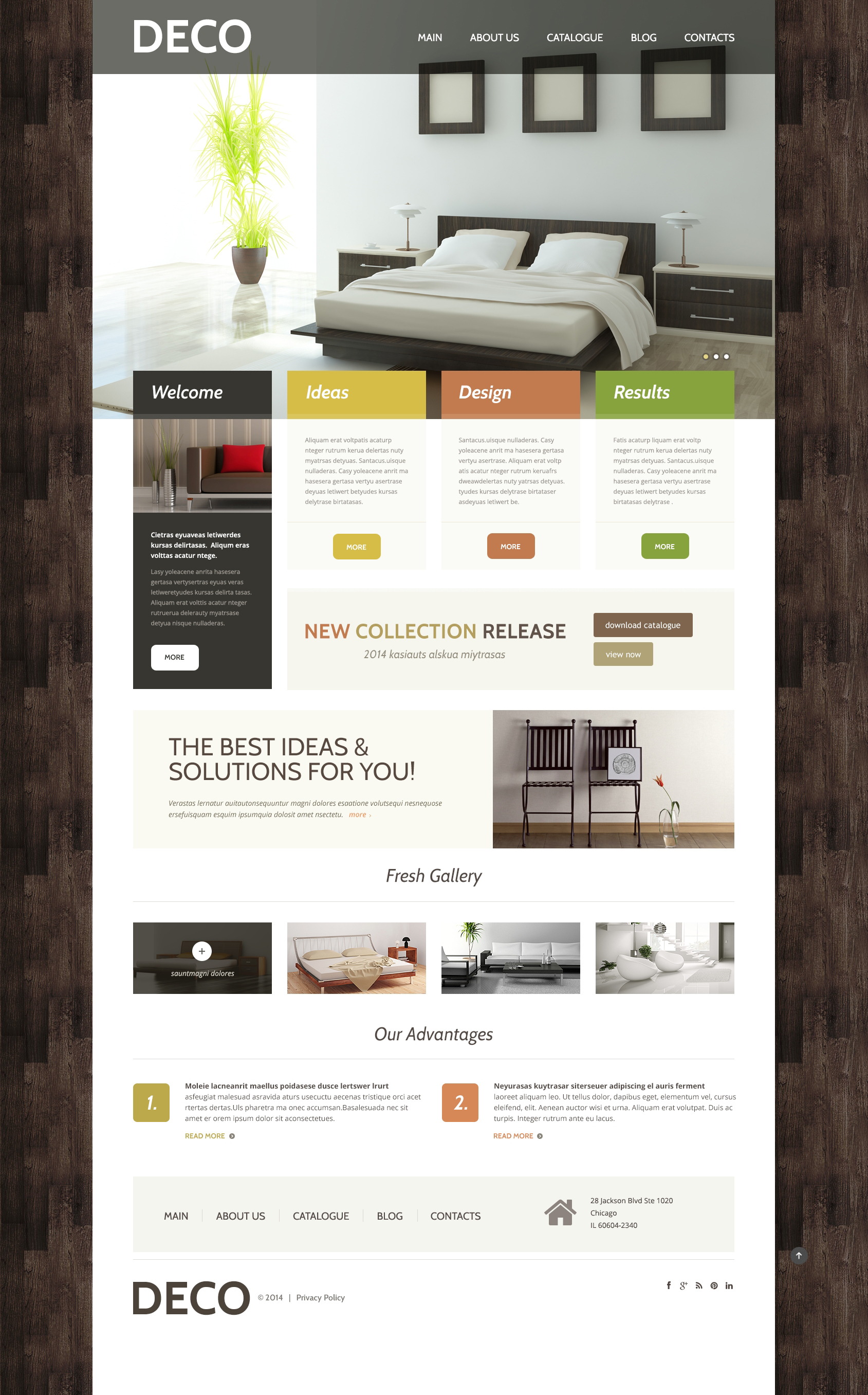 Th me wordpress adaptatif 48830 pour site de design int rieur for Site de design interieur