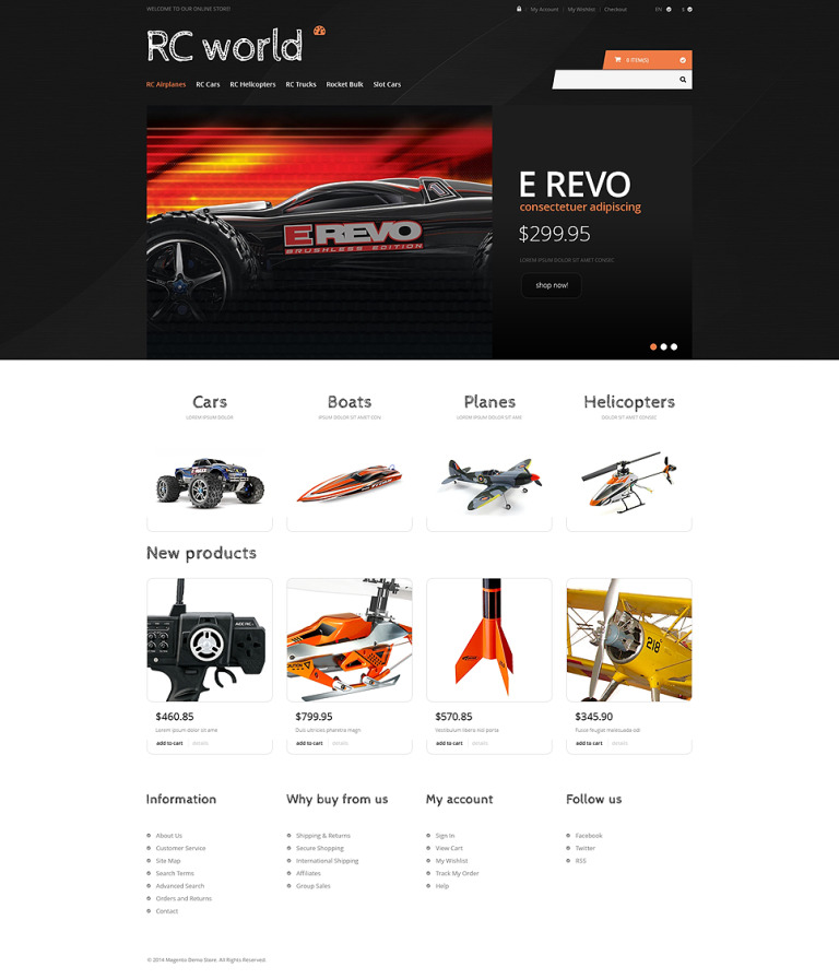 Toy Store Responsive Magento Theme New Screenshots BIG