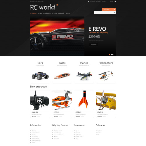 RC World - Responsive Magento Template