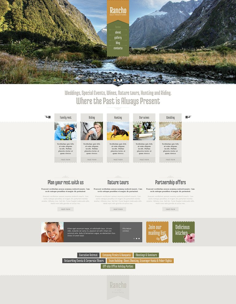 Travel Guide Drupal Template New Screenshots BIG