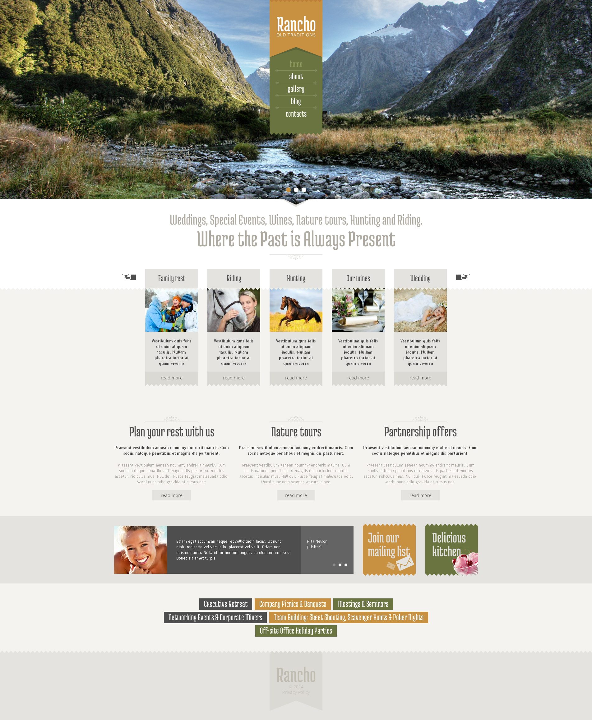 Travel Guide Drupal Template - screenshot