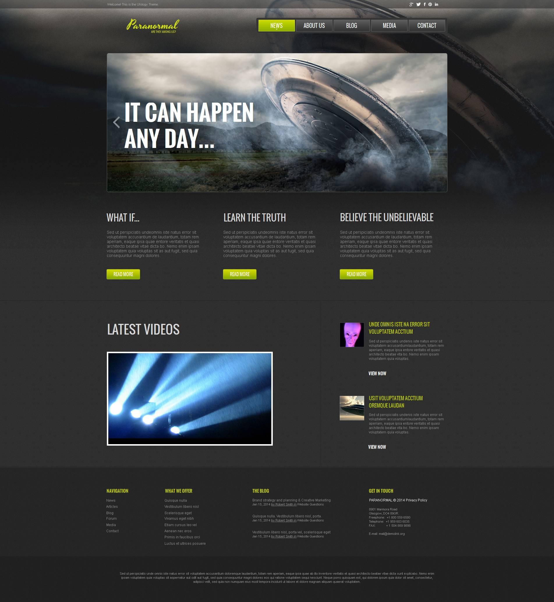 UFO Moto CMS HTML Template
