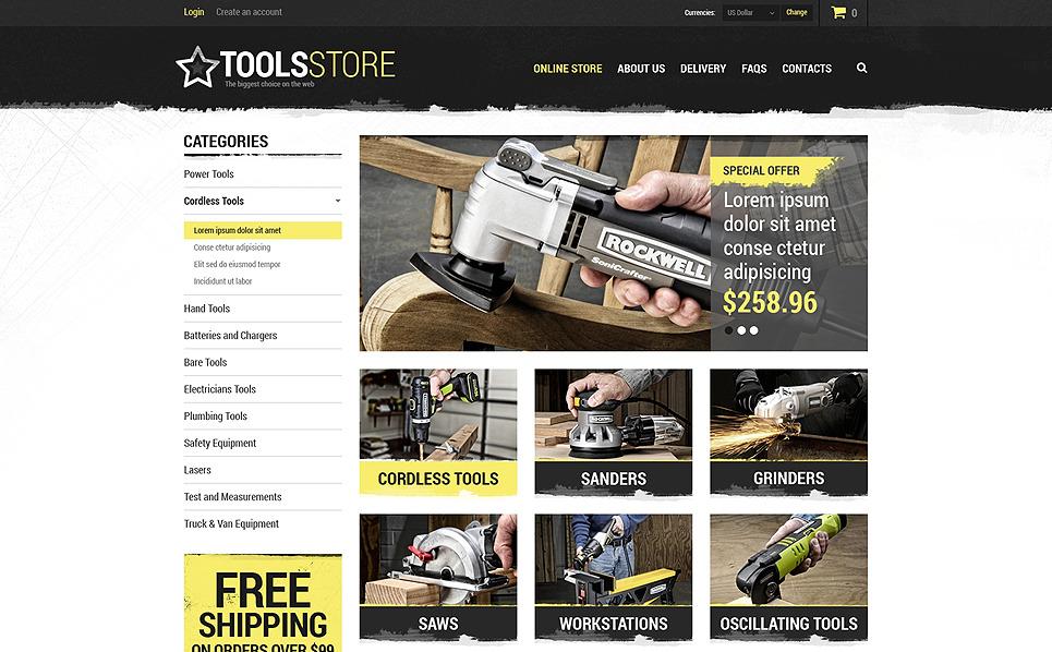"""VirtueMart Vorlage namens """"Werkzeug Großhandel"""" New Screenshots BIG"""
