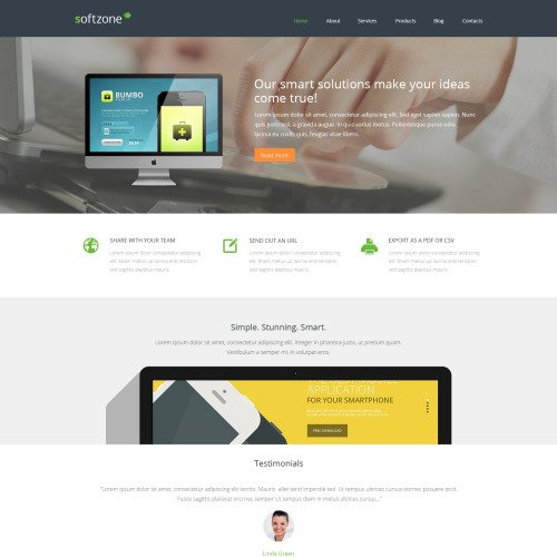 Softzone - WordPress Template based on Bootstrap