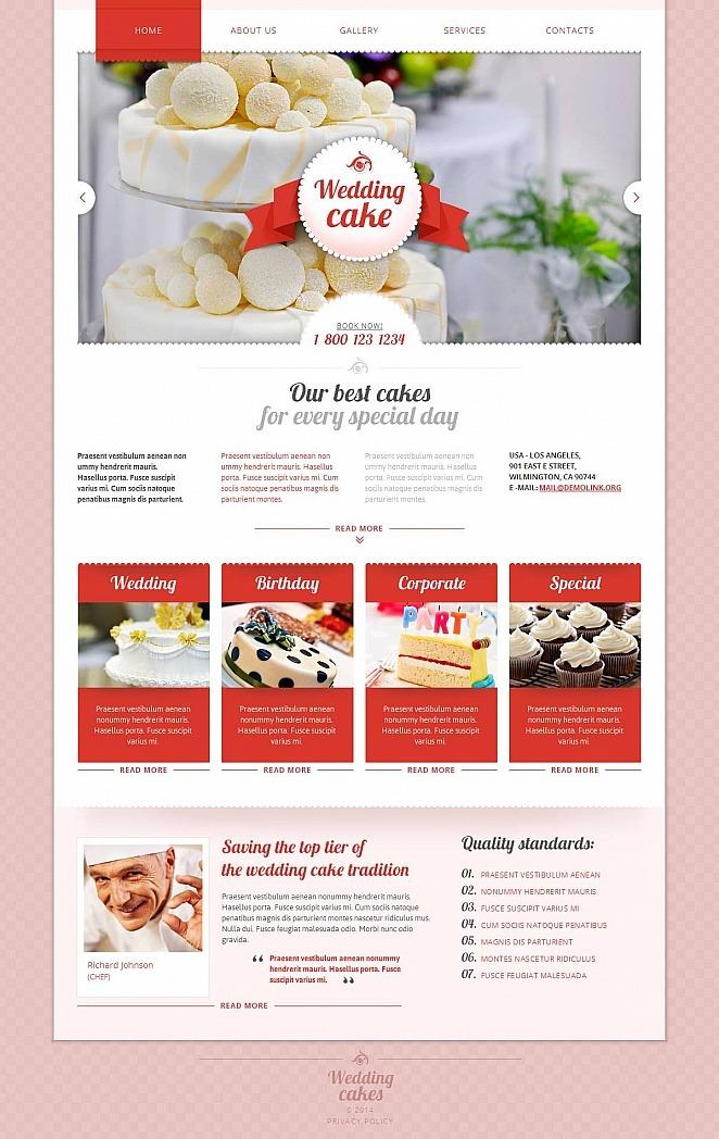 Wedding Cake Moto CMS HTML Template New Screenshots BIG