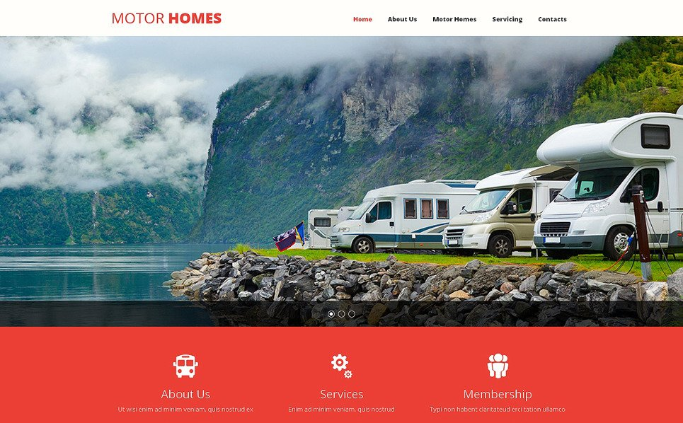 Responsive Website template over Camping  New Screenshots BIG