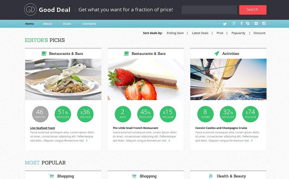 Responzivní Šablona webových stránek na téma Stock Foto New Screenshots BIG