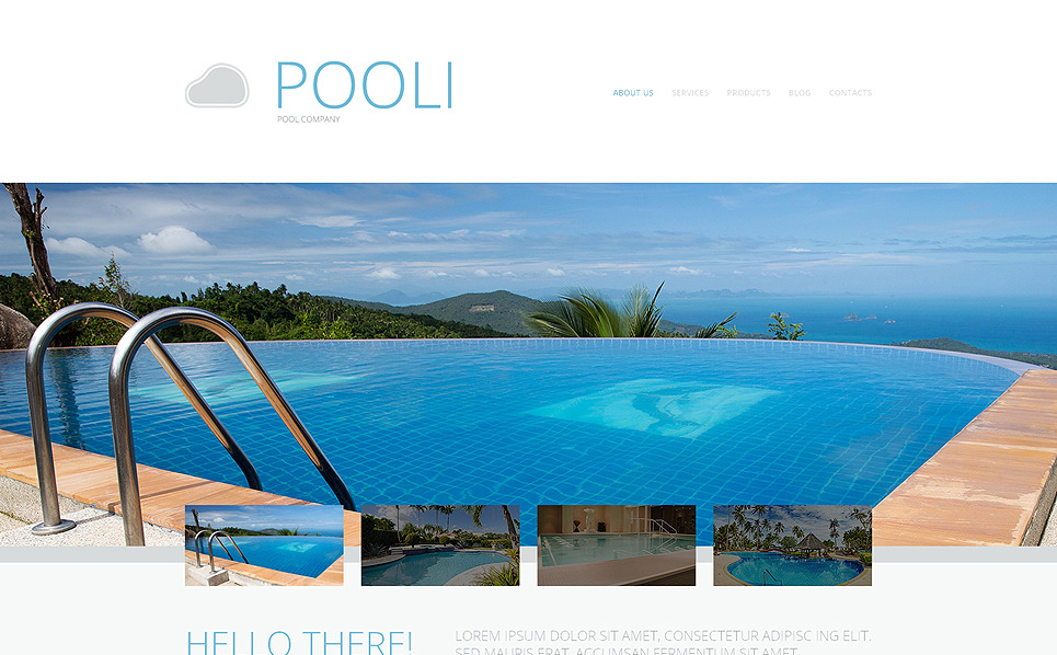 Template Web Flexível para Sites de Piscinas №48905 New Screenshots BIG