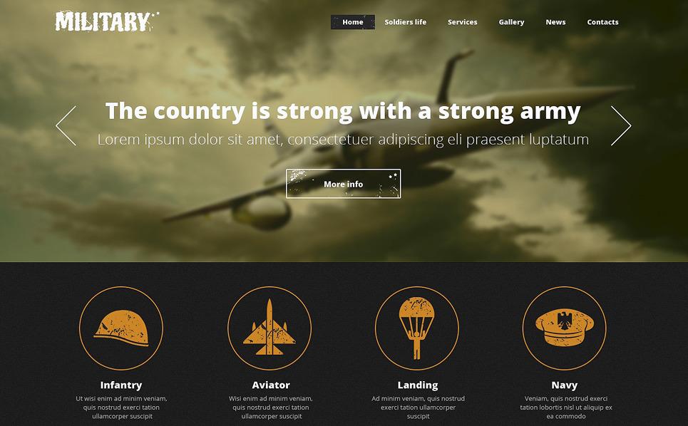 Reszponzív Hadsereg Weboldal sablon New Screenshots BIG