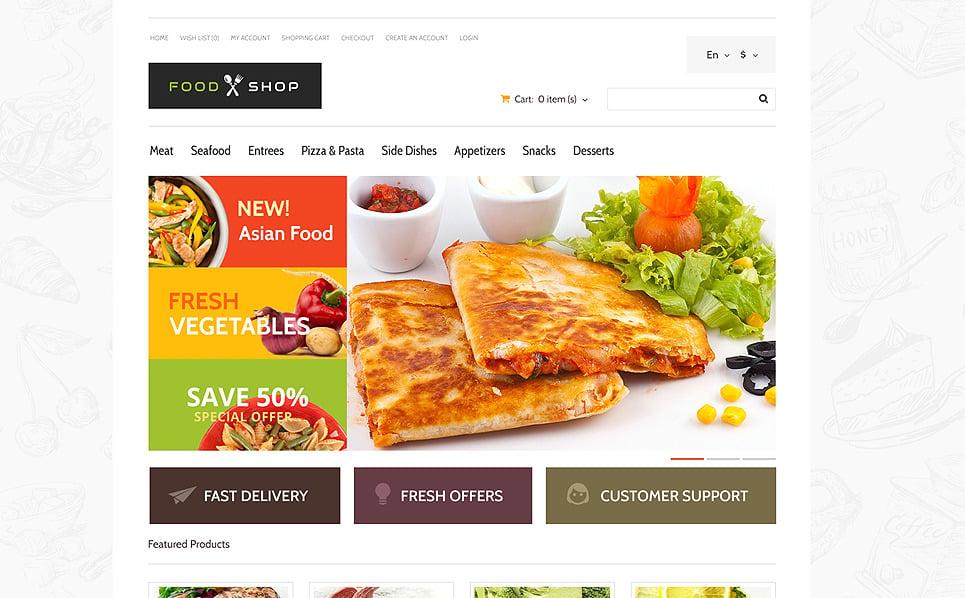 Responzivní OpenCart šablona na téma Obchod s potravinami New Screenshots BIG