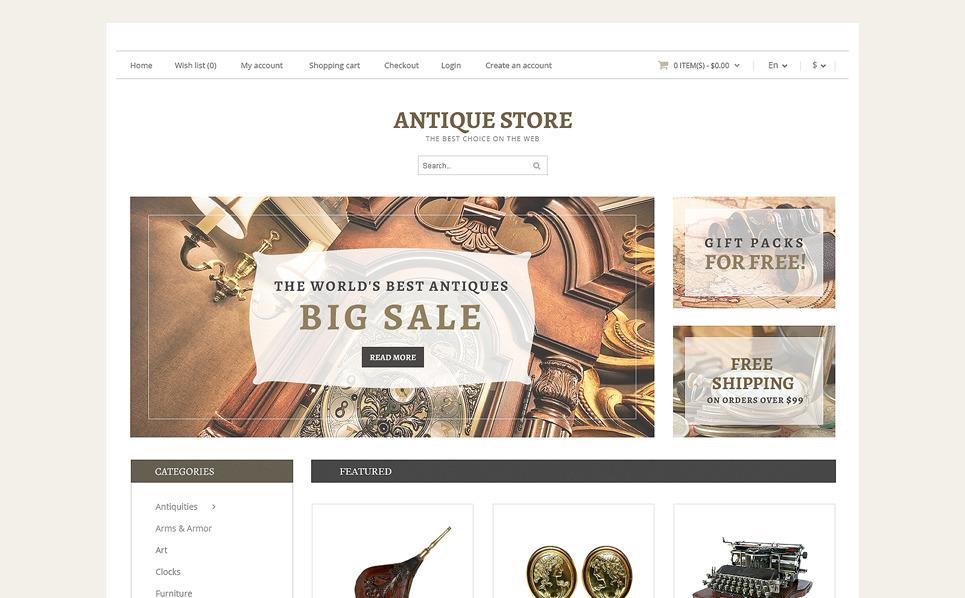 Responsive OpenCart Vorlage für Antiquitätenladen  New Screenshots BIG