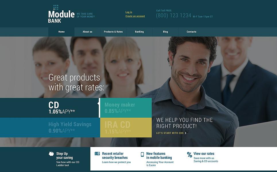 Responzivní WordPress motiv na téma Banka New Screenshots BIG