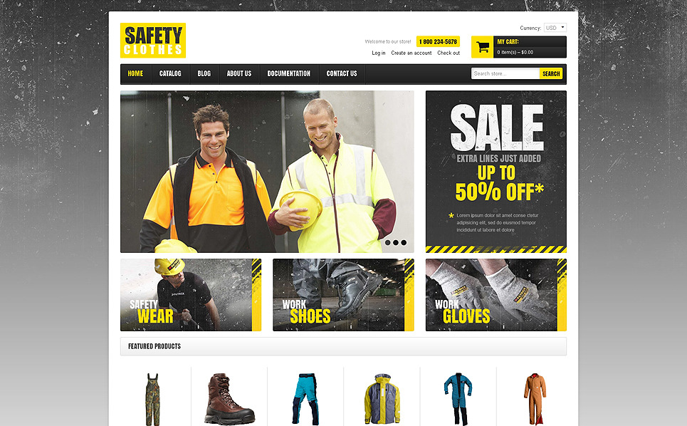 Адаптивний Shopify шаблон на тему безпека New Screenshots BIG