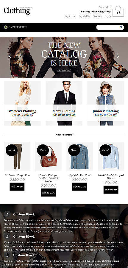 Magento Theme/Template 48933 Main Page Screenshot