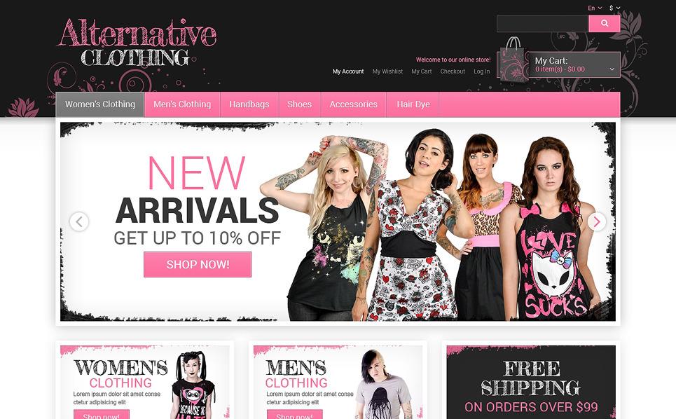 Template Magento Responsive #48934 per Un Sito di Abbigliamento New Screenshots BIG