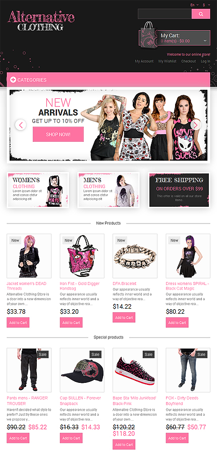 Magento Theme/Template 48934 Main Page Screenshot
