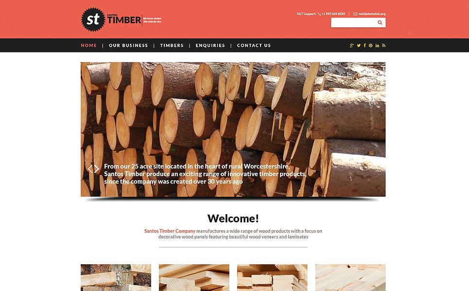 Responsive Website template over Hout  New Screenshots BIG