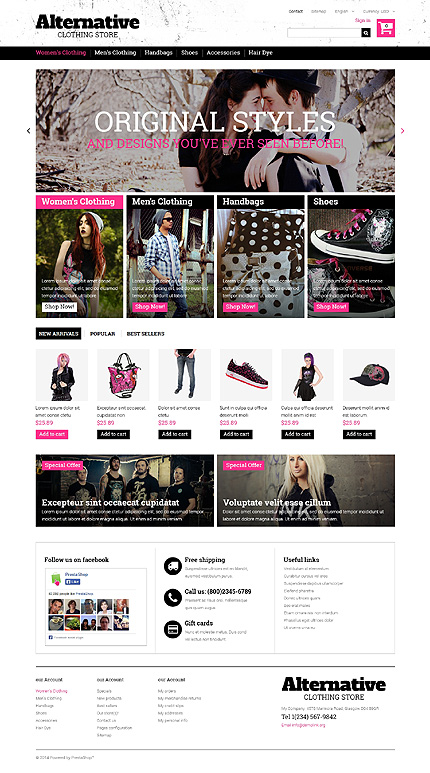 ADOBE Photoshop Template 48946 Home Page Screenshot