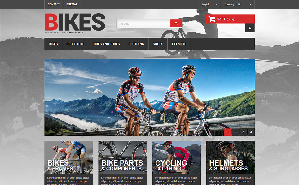 Reszponzív Kerékpározás PrestaShop sablon New Screenshots BIG