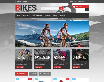 Bikes Store PrestaShop Theme