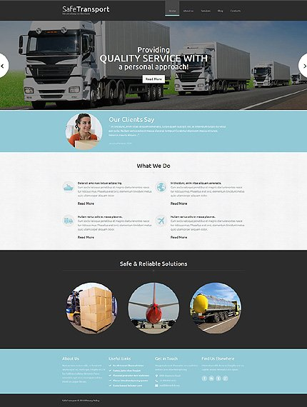 Joomla Theme/Template 48954 Main Page Screenshot