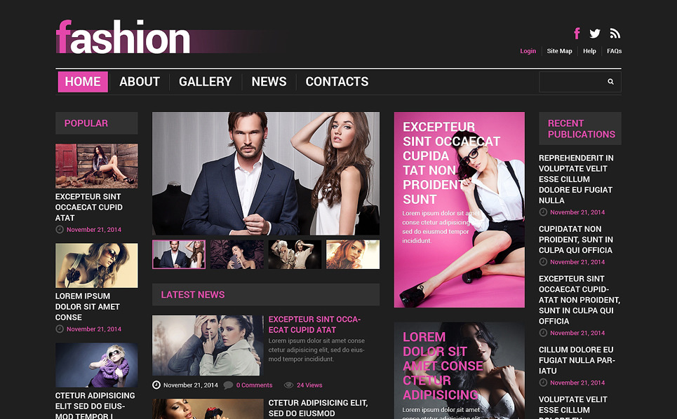 Reszponzív Divatblogok  Joomla sablon New Screenshots BIG
