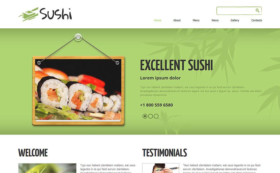 Responzivní Joomla šablona na téma Sushi bar New Screenshots BIG