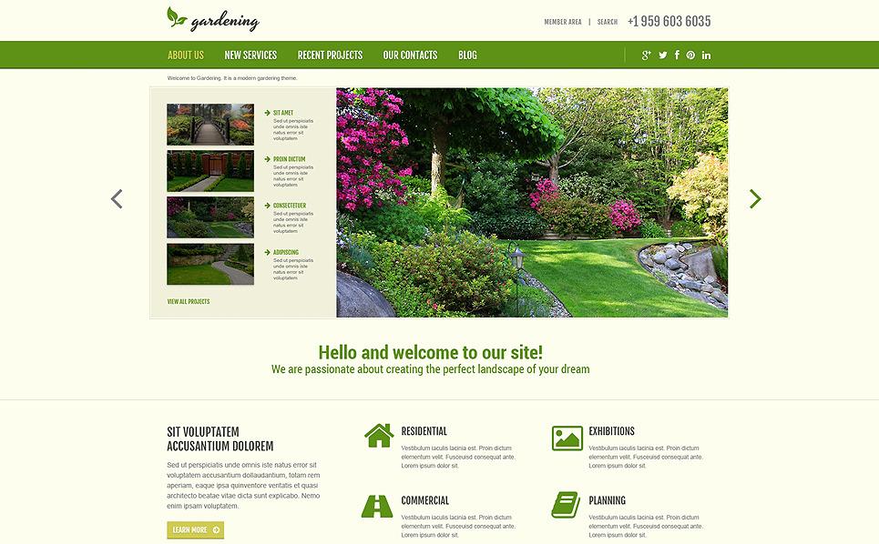 Responsive Bahçe Tasarımı  Joomla Şablonu New Screenshots BIG