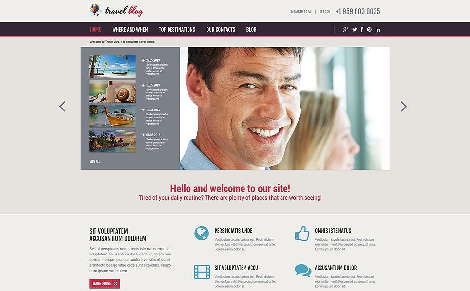 Reszponzív Utazási irodák Joomla sablon New Screenshots BIG