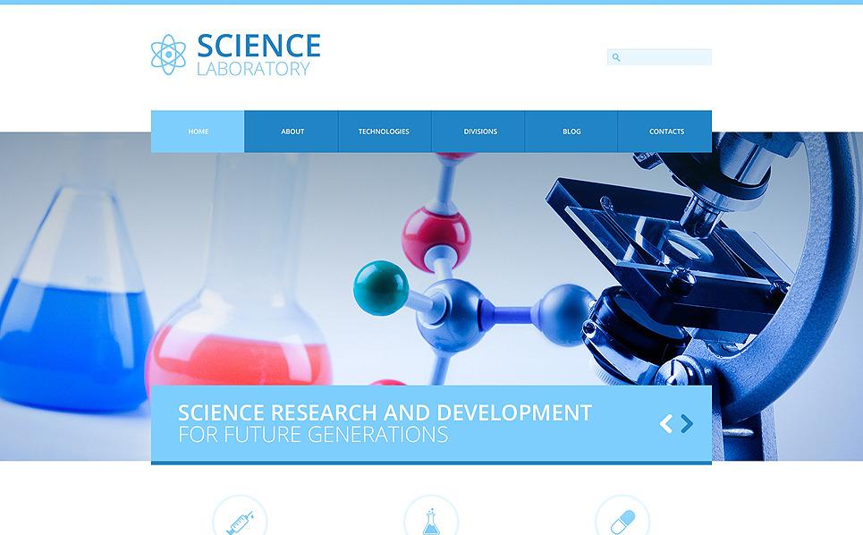 Reszponzív Tudományos laborok Joomla sablon New Screenshots BIG