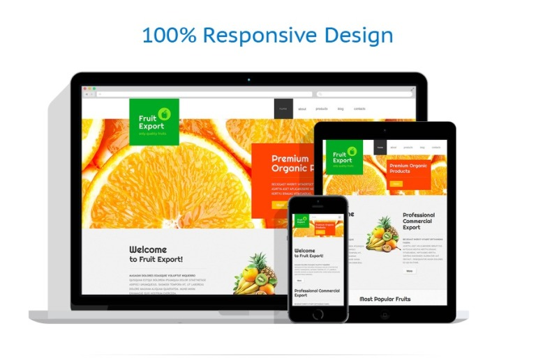 Fruit export joomla template 48968 moreover fresh fruits are very tasty take care of healthy nutrition of your customers build a website with appetizing fruit pronofoot35fo Gallery