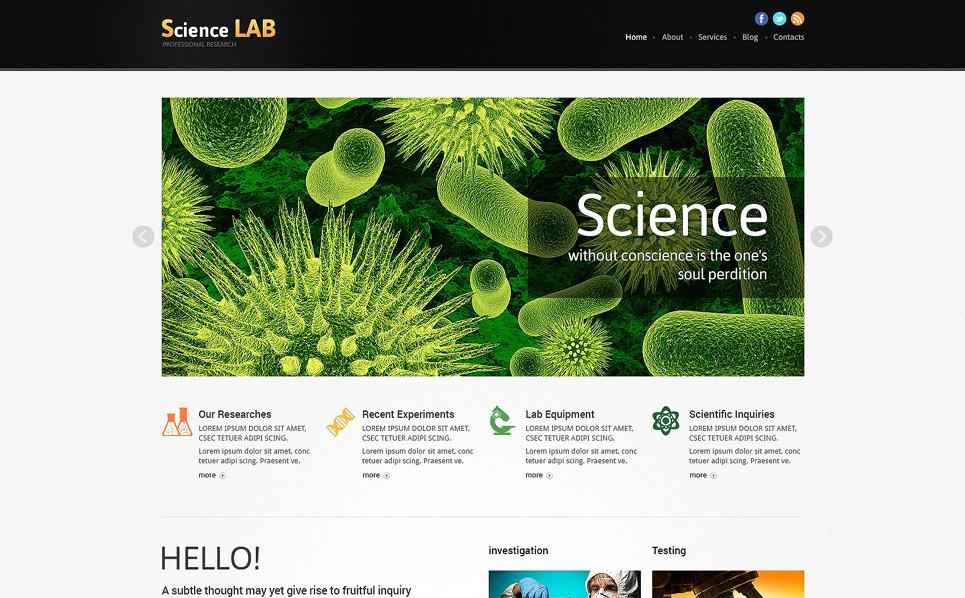 Responzivní Joomla šablona na téma Laboratoř New Screenshots BIG