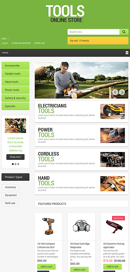 ADOBE Photoshop Template 48983 Home Page Screenshot