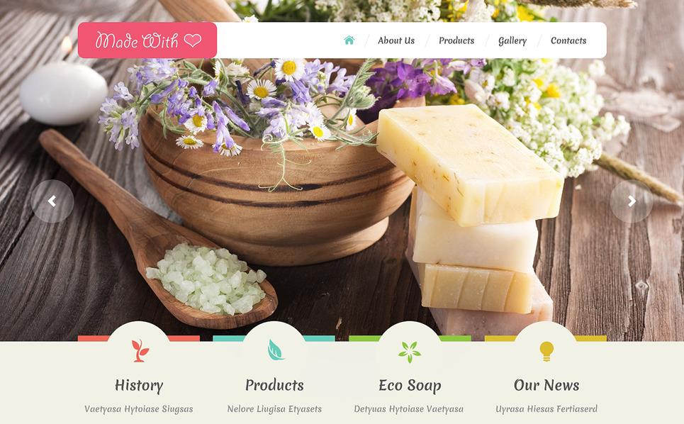 Responsive Website template over Ambachten  New Screenshots BIG