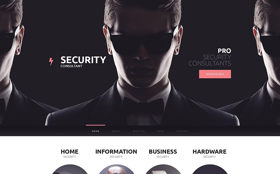 Responzivní Šablona webových stránek na téma Bezpečnost New Screenshots BIG