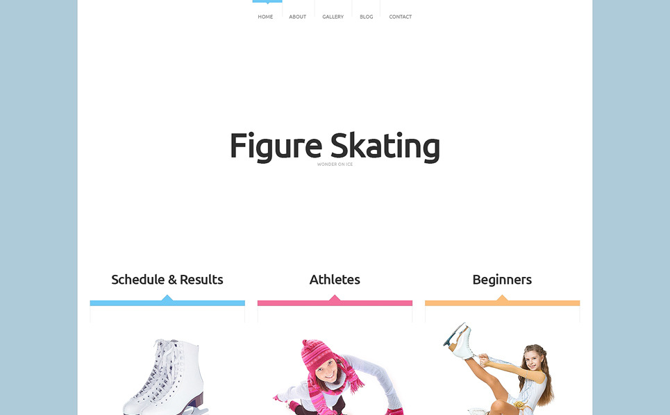 Template Web Flexível para Sites de Skate №48993 New Screenshots BIG