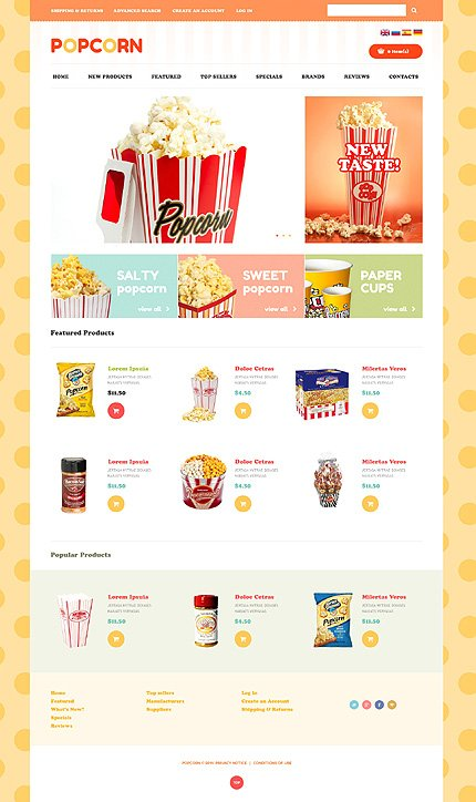 osCommerce Template 48996 Main Page Screenshot
