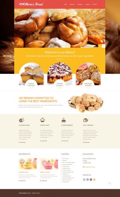 Bakery Responsive Шаблон сайту