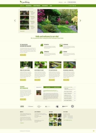 Адаптивный Joomla шаблон №48960 на тему садовый дизайн