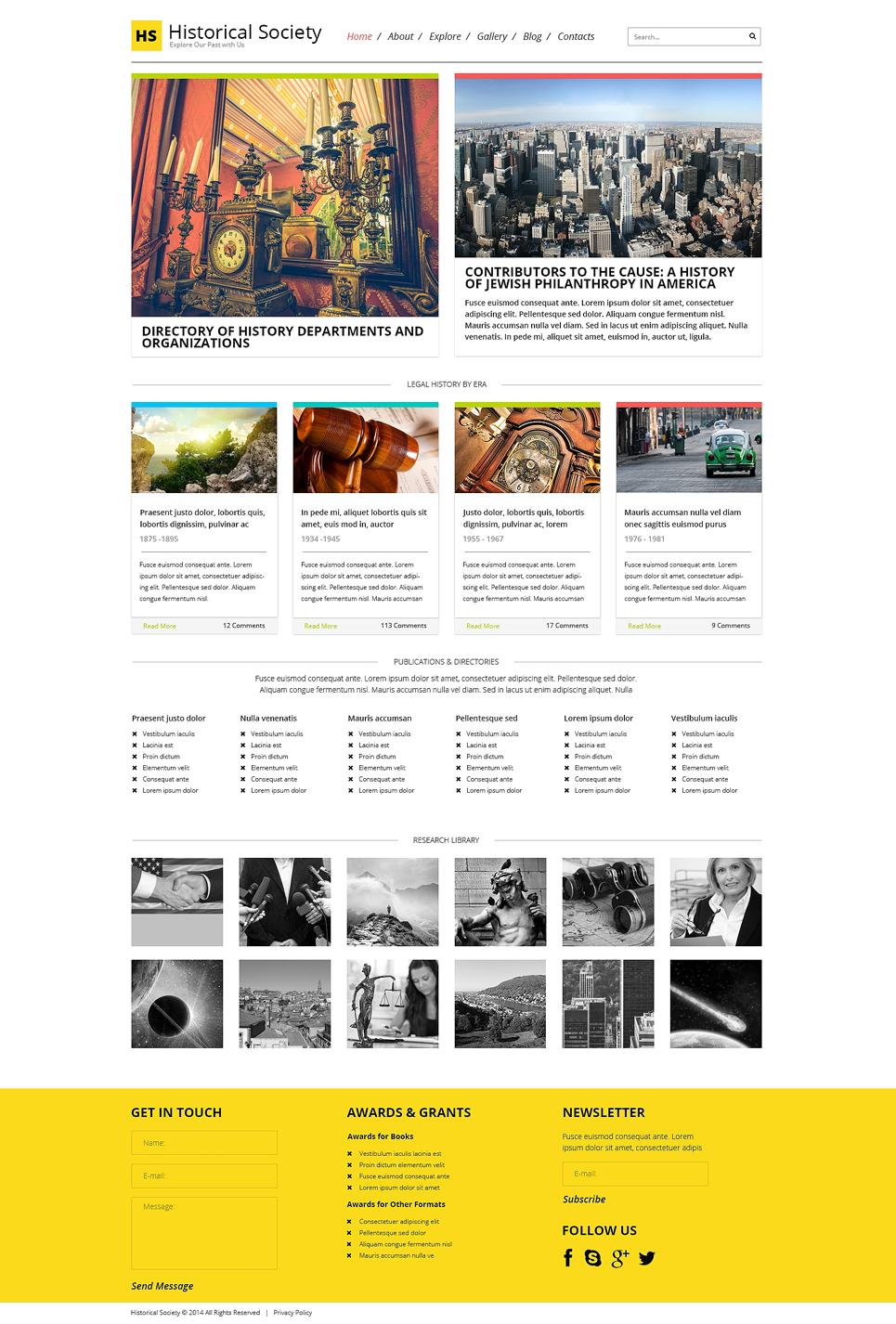 Адаптивный шаблон сайта на тему новостной портал #48923
