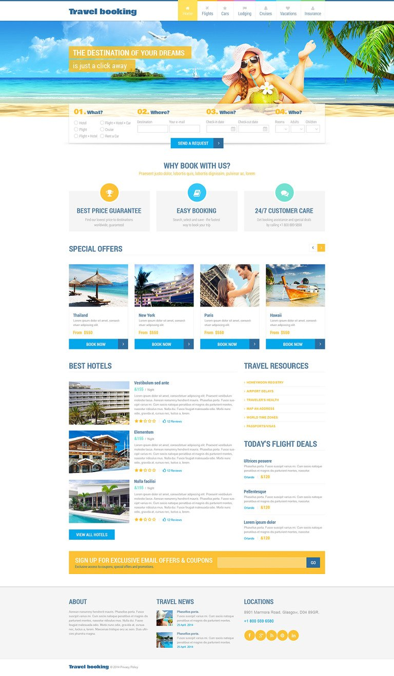 Airline Tickets Responsive Website Template New Screenshots BIG