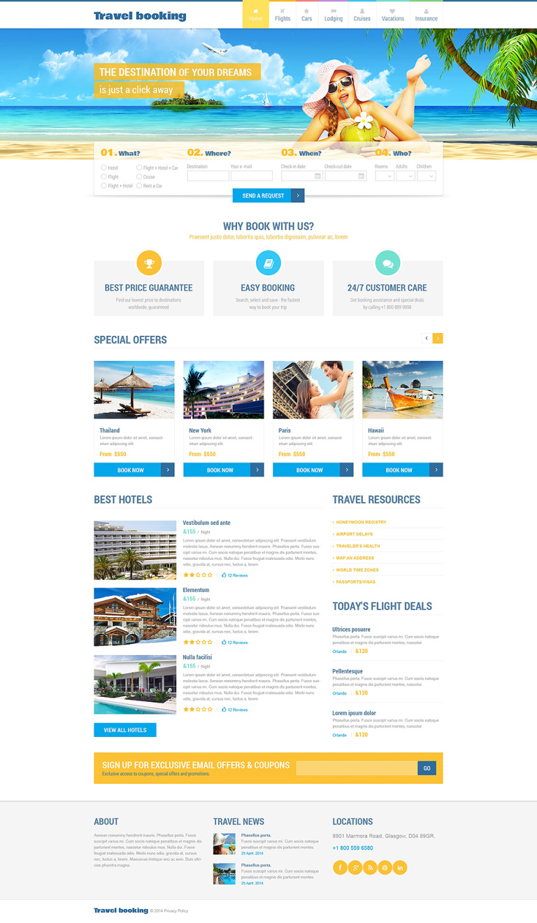 Airline Tickets Responsive Website Template New Screenshots BIG