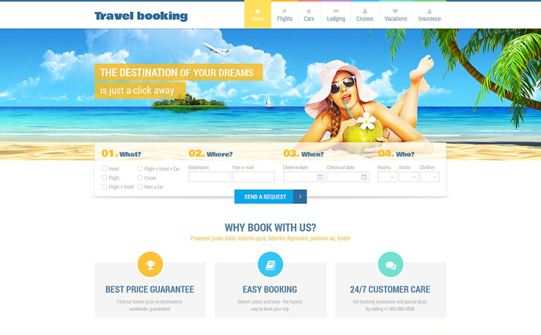 Airline Tickets Responsive Website Template #48987