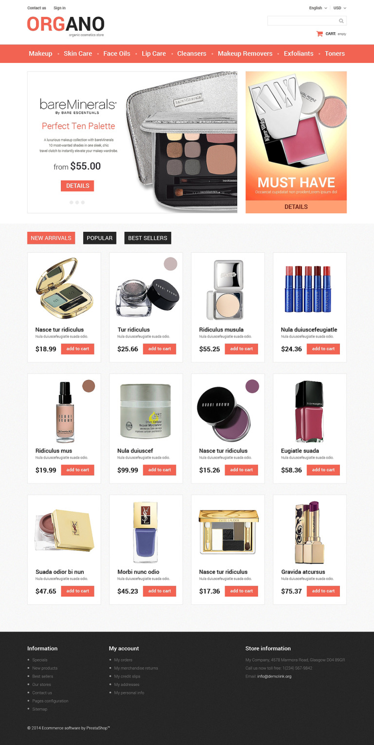 All Occasions Beauty PrestaShop Theme New Screenshots BIG