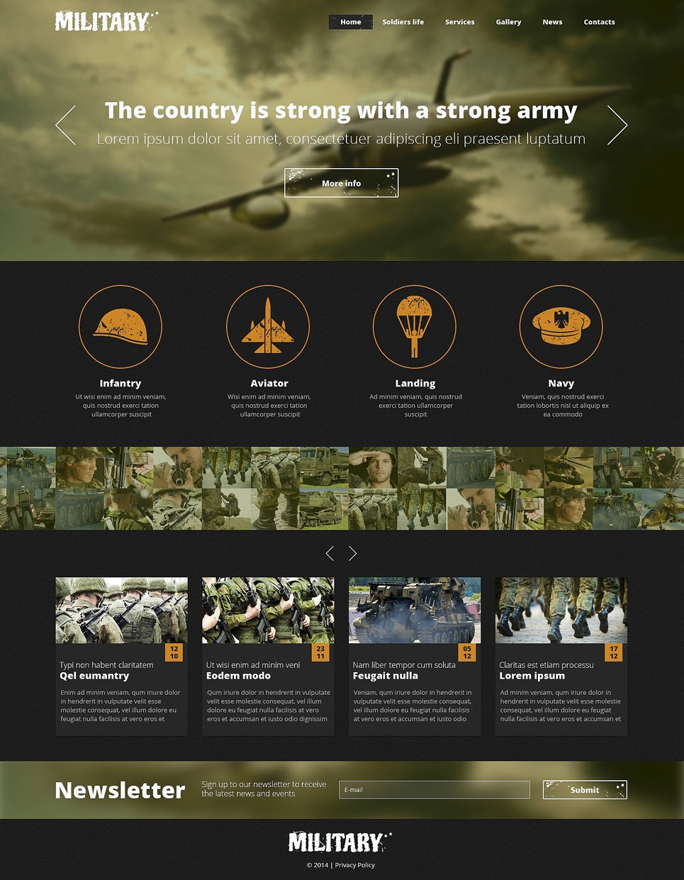 Army responsive website template 48911 toneelgroepblik Images