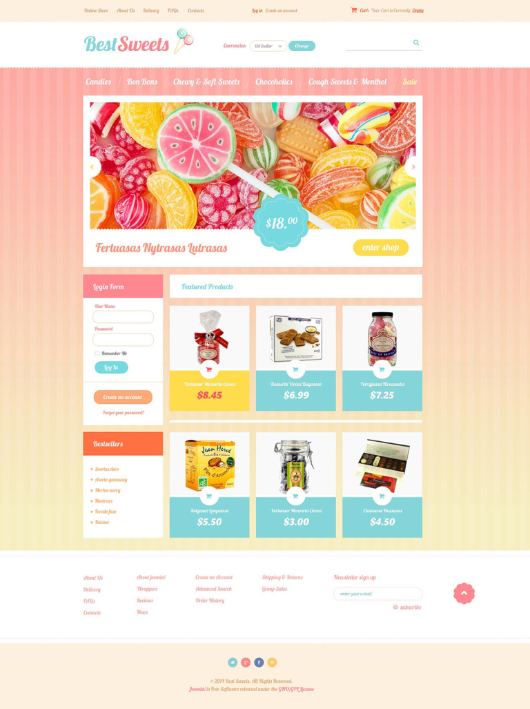 Best Sweets VirtueMart Template New Screenshots BIG