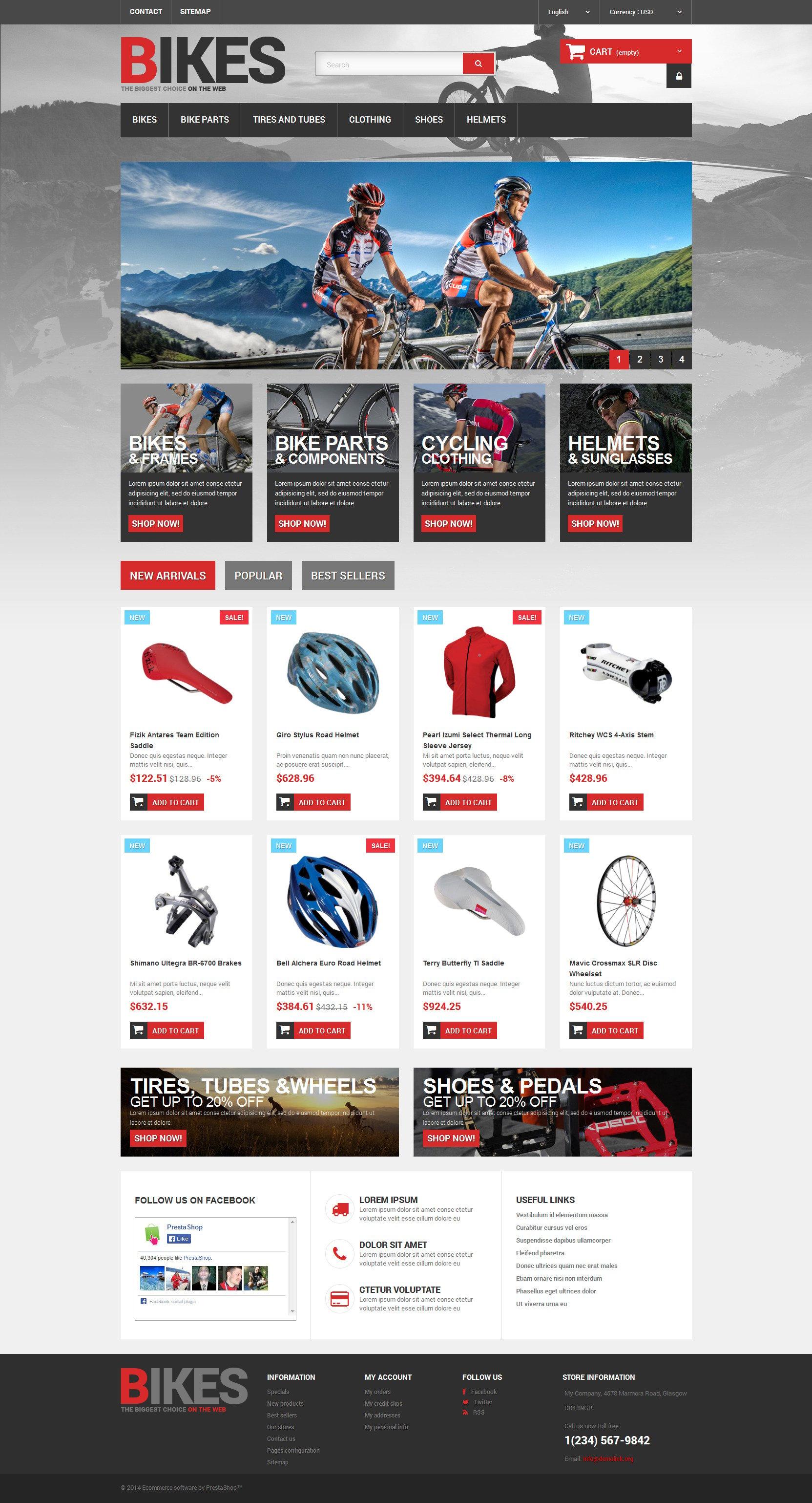 Bikes Store PrestaShop Theme - screenshot